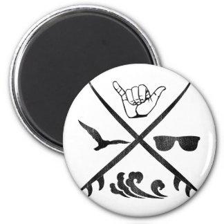 Surf_Logo Vintage 2 Inch Round Magnet