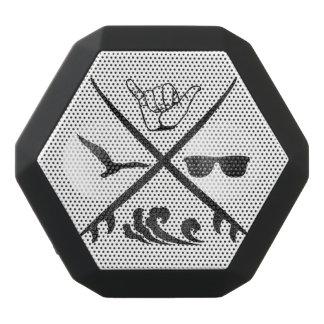 Surf_Logo Vintage Black Bluetooth Speaker