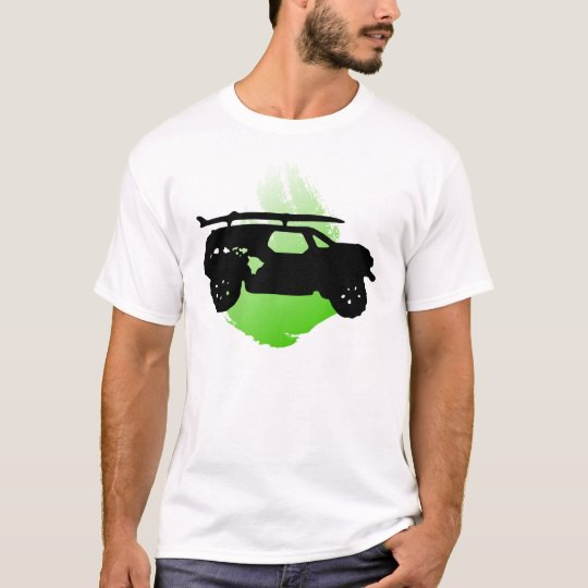 Surf mobile silhouette with a splash of color T-Shirt