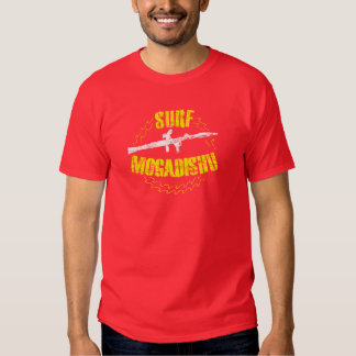 Surf Mogadishu Vintage Grunge Stencil T-Shirt