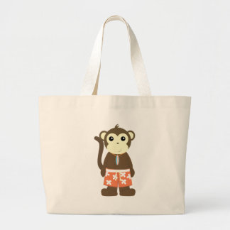Surf Monkey Jumbo Tote Bag