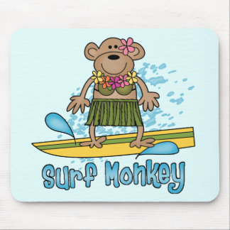 Surf Monkey (Girl) Mouse Pad