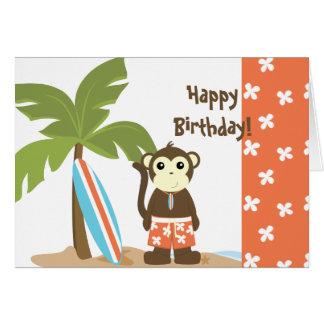 Surf Monkey Greeting Card
