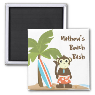 Surf Monkey 2 Inch Square Magnet