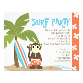 Surf Monkey Personalized Announcement