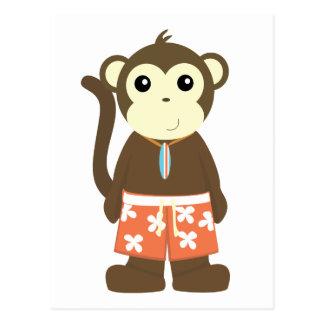Surf Monkey Postcard
