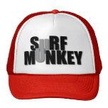 Surf Munkey stacked lettering design on hats