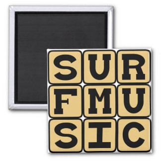 Surf Music, Music Genre Fridge Magnet
