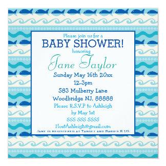 Surf 'N Fishies Nautical Baby Shower Card
