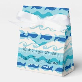 Surf 'N Fishies Nautical Baby Shower Favor Box