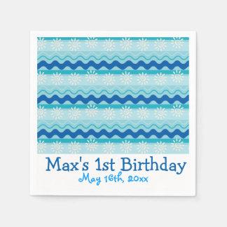Surf N Sun Birthday Napkin