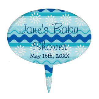 Surf 'N Sun Nautical Baby Shower Cake Topper