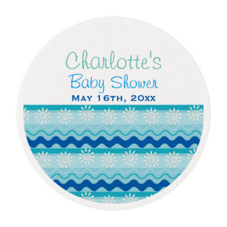 Surf 'N Sun Nautical Baby Shower Edible Frosting Rounds