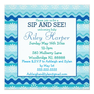 Toddler & Baby themed Surf 'N Sun Nautical Baby Sip and See Card