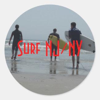Surf NJ/NY Classic Round Sticker