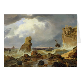 Surf on a Rocky Coast, 1835 Greeting Card