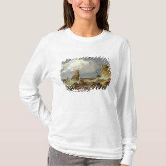 Surf on a Rocky Coast, 1835 T-Shirt