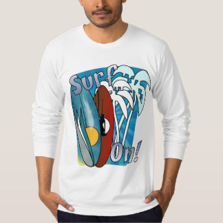 Surf On American Apparel Long Sleeve Fitted TShirt