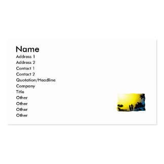 Surf on Beach Sunset Double-Sided Standard Business Cards (Pack Of 100)