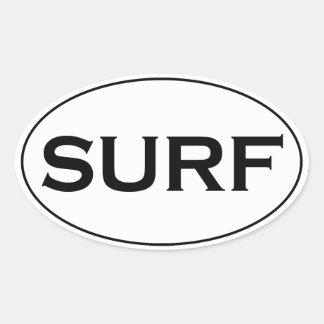 SURF Oval Logo Oval Sticker