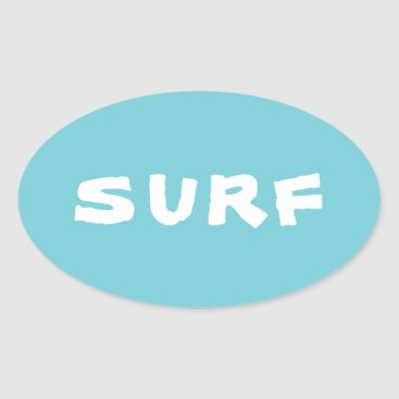 Surf Oval Sticker