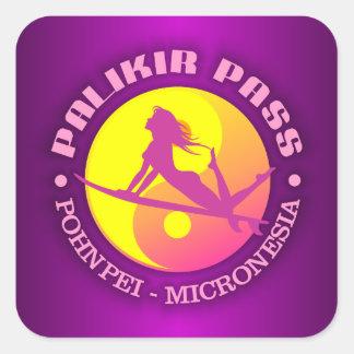 Surf Palikir Pass Square Sticker