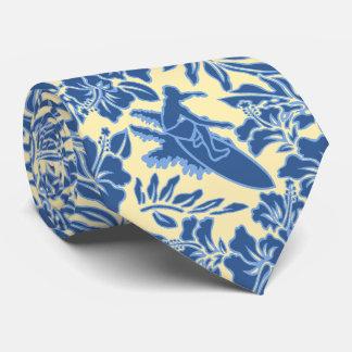 Surf Pareau Hawaiian Hibiscus Two-sidedPrinted Neck Tie