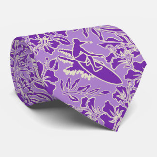 Surf Pareau Hawaiian Hibiscus Two-sided Printed Tie