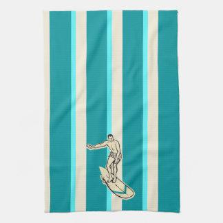 Surf Pareau Hawaiian Striped Kitchen Towel