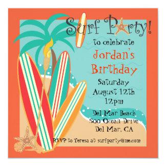 Surf Party Invitation