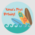 Surf Party Personalized Sticker
