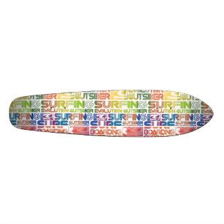 Surf Patterns Skate Board Deck
