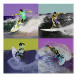 Surf Popart 2, Copyright karen j. Williams Poster