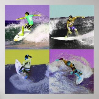 Surf Popart 2, Copyright karen j. Williams Poster