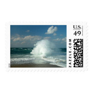 Surf popping at Great Point, Nantucket Postage