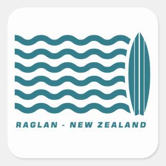 Surf Raglan New Zealand Square Sticker