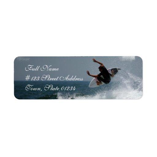 Surf Report Mailing Label
