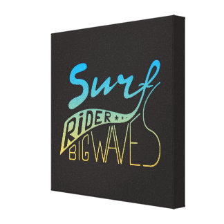 Surf Rider Big Waves Canvas Print