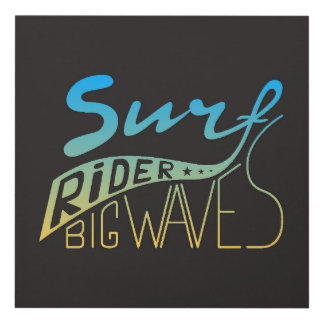 Surf Rider Big Waves Panel Wall Art