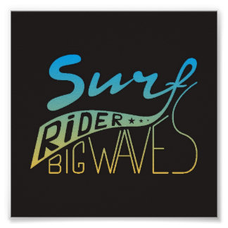 Surf Rider Big Waves Poster