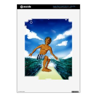 Surf Rider Decal For iPad 3