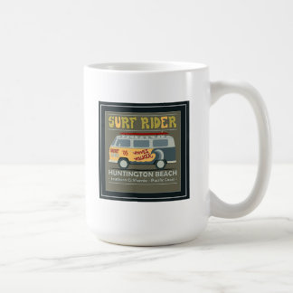 Surf Rider Huntington Beach Poster Coffee Mug