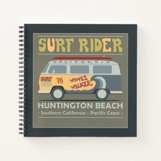 Surf Rider Huntington Beach Poster Notebook