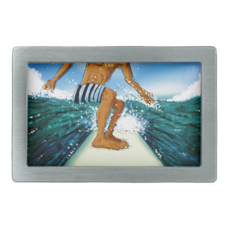 Surf Rider Rectangular Belt Buckle