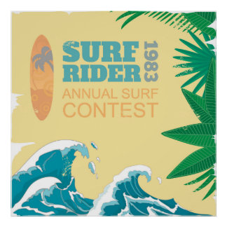 Surf Rider Surf Contest |1983 Poster
