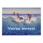 """'Surf-Riders, Honolulu' - Birthday Invitation 5"""" X 7"""" Invitation Card"""