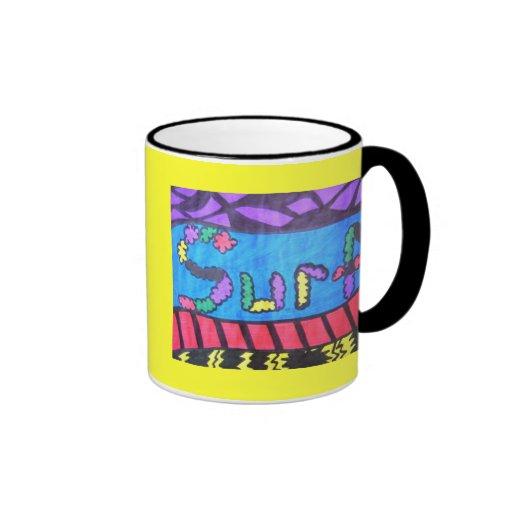 SURF RINGER COFFEE MUG