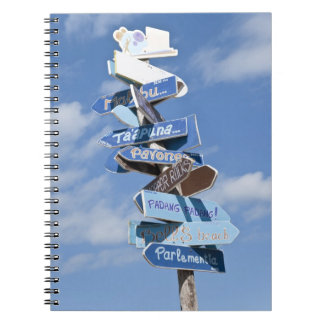 Surf roadsigns notebook