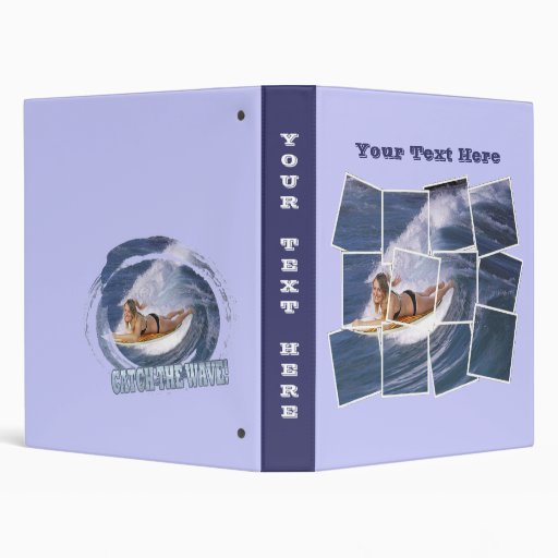 Surf's Up!  Catch The Wave! 3 Ring Binders