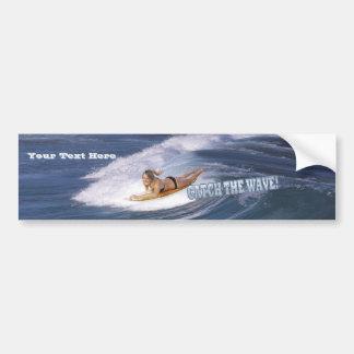 Surf's Up!  Catch The Wave! Bumper Sticker